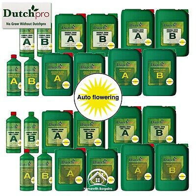 "Dutch Pro ""AUTO FLOWERING"" Grow Bloom A+B Coco / Hydro & Soil Plant Nutrients"