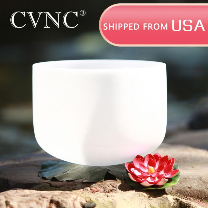 CVNC 432Hz 12 Inch F HeartChakra Quartz Crystal Singing Bowl Rubber Mallet
