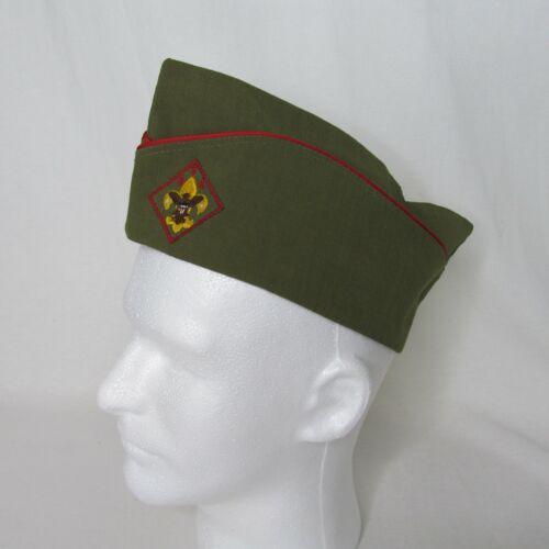 BSA Lg Unform Garrison Hat Boy Scouts of America Green Embroidered Wool Blend
