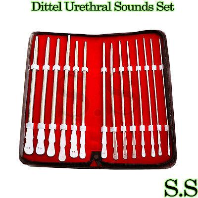 Dittel Urethral Sounds Set Of 14 Urology Instruments