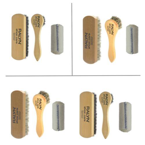 Shoe Shine Kit 100% Horsehair. Horse Hair Brush Dauber applicator, Buffing Cloth