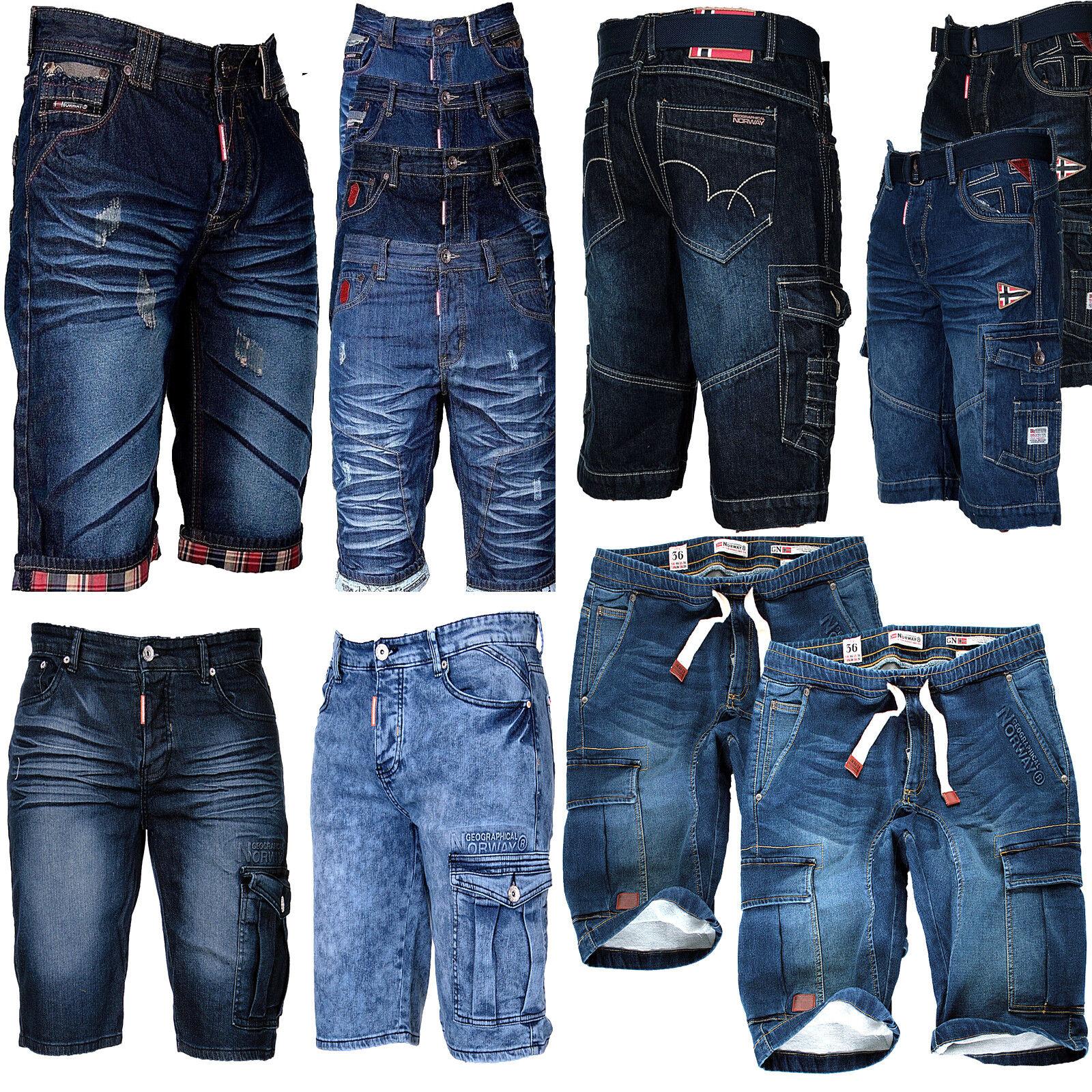 Geographical Norway Herren Bermuda Shorts Jeans shorts Kurze Hose Cargo Shorts