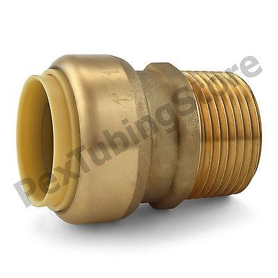 10 1 Sharkbite Style Push-fit X 1 Mnpt Lr Brass Male Threaded Adapters