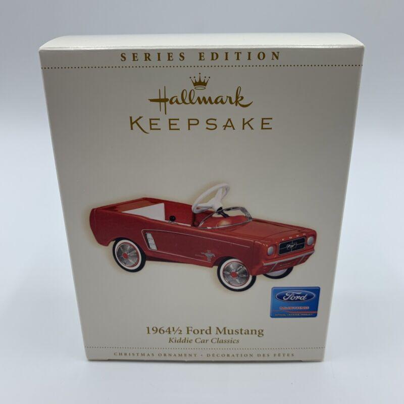 Hallmark Keepsake Series Edition 1964-1/2 Ford Mustang Kiddie Car Ornament