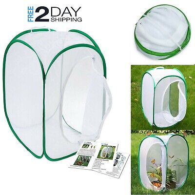 Insect Butterfly Mesh Habitat Cage Collapsible Terrarium 23 Inch Pop Up Net