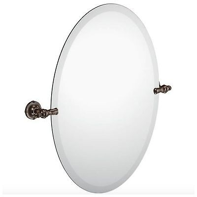 Moen Frameless Bathroom Wall Decorative Oval Mirror Bath Bronze Vanity Frame New - Moen Mirror Frames