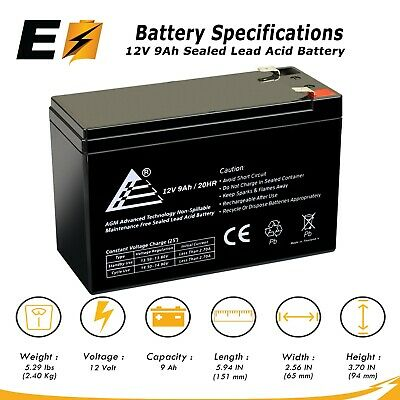 ExpertBattery 12V 9Ah Battery for MONSTER Rockin' Roller 3 Wireless Speaker