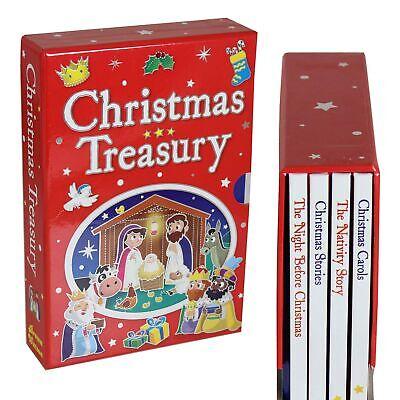 Navidad Treasury Niños 4 Tapa Dura Libro Juego