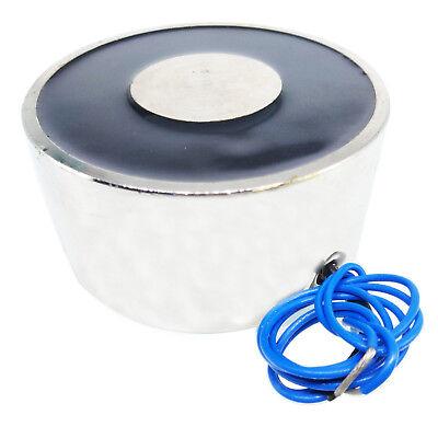 Us Stock 11lb 5kg Lifting Magnet Electromagnet Solenoid Lift Holding 25mm 12v