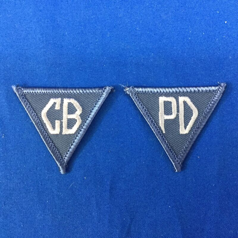 CB PD Collar Patch Set FREE SHIPPING
