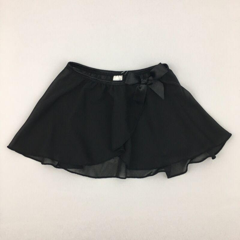 Danshuz Danz N Motion Black Mock Wrap Dance Skirt Toddler Girls Kids Size Small