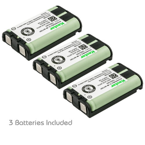 Kastar 3 Pcs 1000mAh Cordless Phone Battery For Panasonic HHR-P104 Type 29 23968