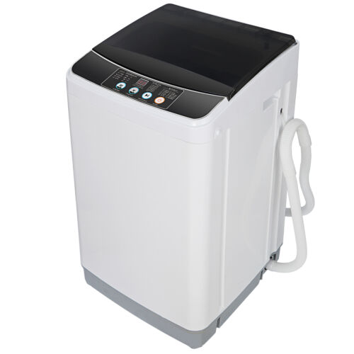 Washing Machine Compact Portable Full automatic Powerful Washer Shock absorption Home & Garden