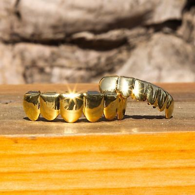 New Popular 14K Gold Plated Hip Hop Rapper Mouth Caps Teeth Bottom Grillz - Gold Teeth Caps