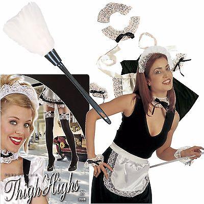SEXY ZIMMERMÄDCHEN - Kostüm Set Dienstmädchen Maid Verkleidung Kleid Karneval - Outfit Kostüm Set