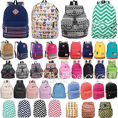 Damen Mädchen Reisetasche Rucksack Schulter Schule Backpack Freizeittasche Bag