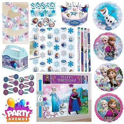 Frozen Party Tableware Decorations Balloons - Frozen Party Tableware