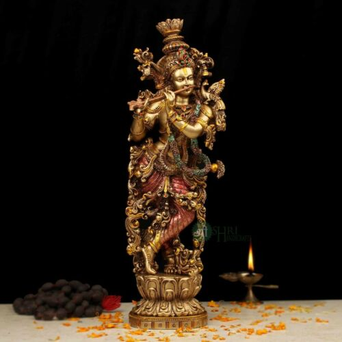 Lord Krishna Statue Temple Sculptures God Of Love Handmade Hindu Deity Gifts