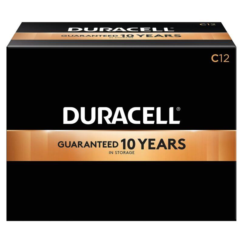 Duracell Coppertop C Alkaline Batteries 12/Pack (MN1400) 2767341