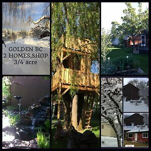 GOLDEN BC ,2  HOMES, SHOP, 3/4 acre