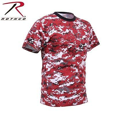 Men's Red Digital Camo Short Sleeve Tee Rothco Digital Camouflage T-Shirt ()