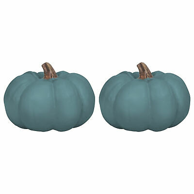 Elanze Designs Teal Blue 6 inch Resin Harvest Decorative Pum