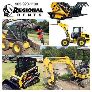 Regional equipment rents.  Very competitive rates!