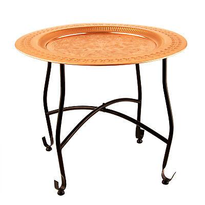 Beistelltisch Orient 50x40cm orientalischer Tee Tisch Tablett Eisen Kupferfarben