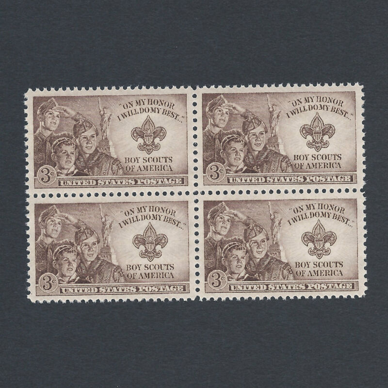 BOY SCOUTS - Vintage Mint Set of 4 Stamps 71 Years Old!