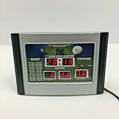 Vintage 2009 MLB Yankees Alarm Clock Date Time Temperature