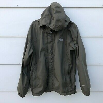 The North Face Hyvent Hooded Green Jacket Mens Size Large Mesh Lined Windbreaker