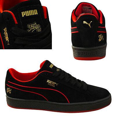 Puma Suede Classic x Fubu Lace Up Mens Trainers Leather Black 366320 02 B88B
