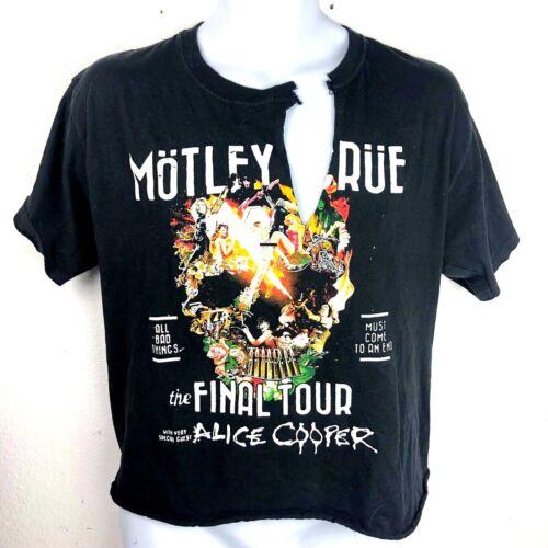 Motley Crue Final Tour 2014 Concert T-Shirt Mens Size M Black