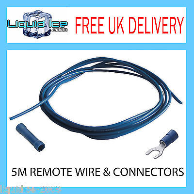 5 M METRE REMOTE AMPLIFIER SWITCH ON CABLE WIRE , BUTT & FORK CONNECTOR KIT
