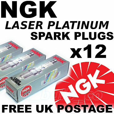 12x NGK Platinum SPARK PLUGS BENTLEY CONTINENTAL GT 60 lt All 03   No 5965