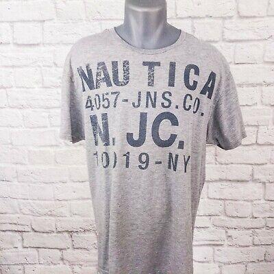 Nautica Jeans Company NY Graphic Gray Mens T-Shirt XL