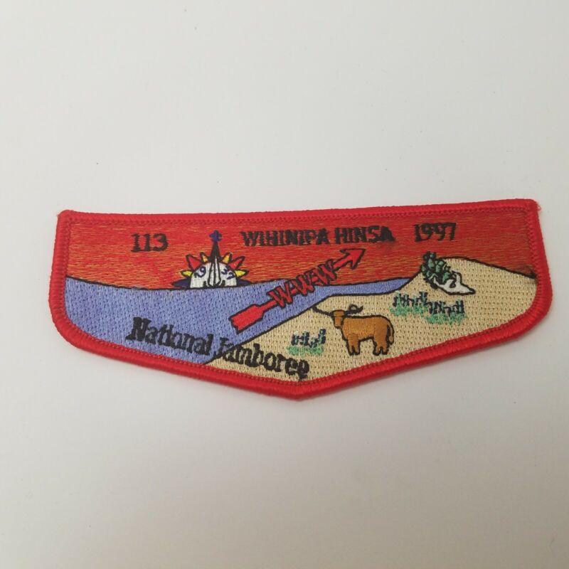 Vintage Boy Scout Wihinipa HinsaO/A Lodge Pocket  Patch1997 National Jamboree