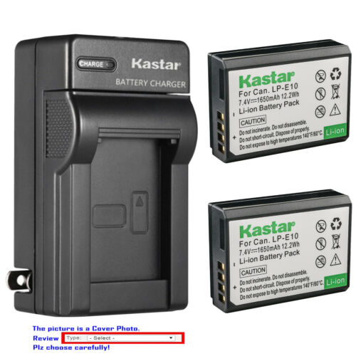 Kastar Battery Wall Charger for Canon LP-E10 LC-E10 & Canon EOS Rebel T3 Camera