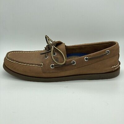 Sperry Top-Sider Authentic Original 2-Eye Men's Boat Shoes Size 10 Brown