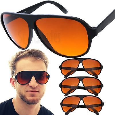 3 PAIR Aviator BLUE BLOCKER Sunglasses with Amber Lens (Bulk Plastic Sunglasses)
