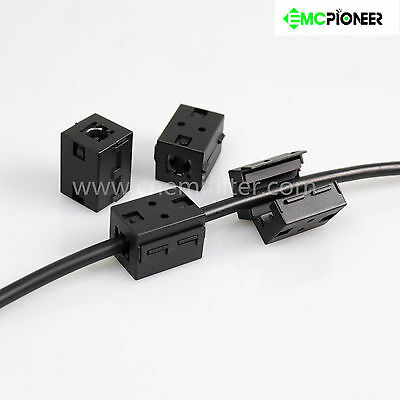 4pc 10mm Ferrite Core Bead Ring Emi Rf Noise Filter Audio Power Cord Cable Choke
