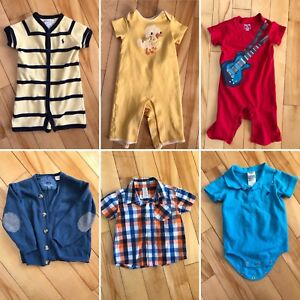Baby boy pants and tops 6-12 months, 9 months