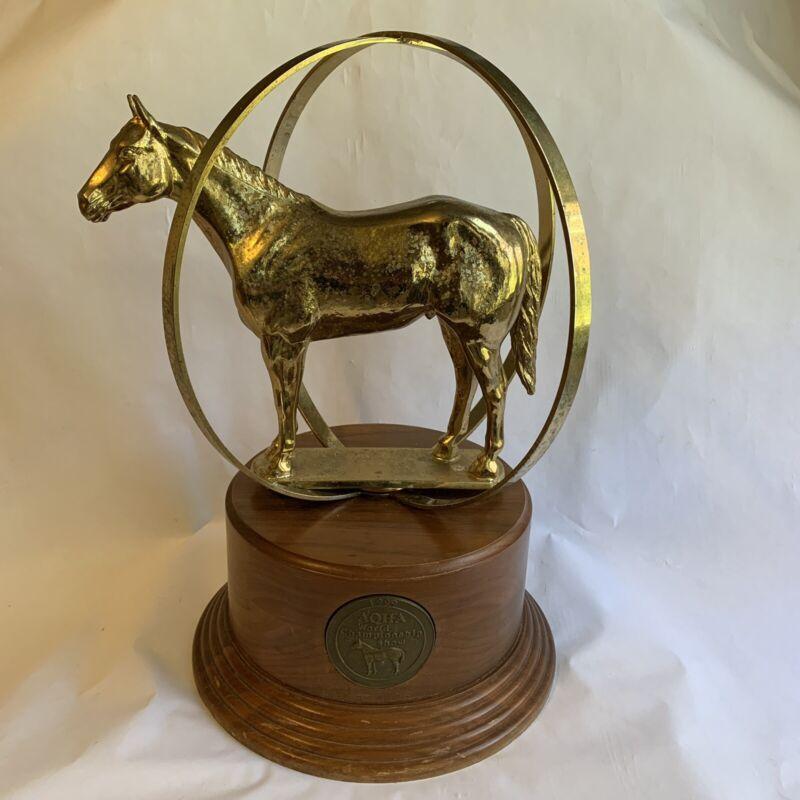 AQHA World Championship Quarter Horse Show Gold Plated Globe Trophy 1999