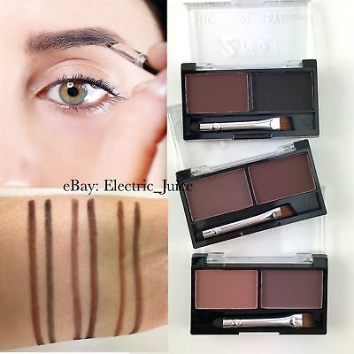 S.he Eyebrow Powder Duo Kit Brows Taupe Brown Black **CHOOSE YOUR COLOR**