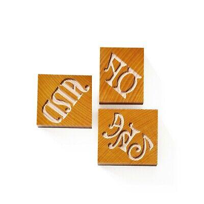 Letterpress Set Of Catchwords No. 03 Wood Type 10 Line 422 Mm - 3 Pieces
