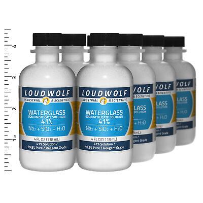 Sodium Silicate 2 Lb Total 8 Bottles Reagent Grade 41 Solution Usa Seller