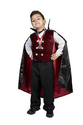 Boys kids Child Vampire Halloween Costume,Gothic/Dracula Vampire   Size 5,6,7,8 - Vampire Childrens Halloween Costumes