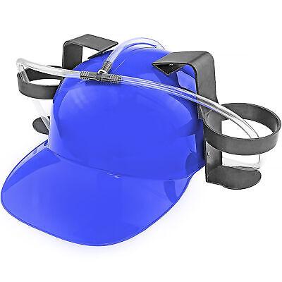 Beer & Soda Guzzler Helmet Drinking Hat, Blue - Party Novelty Gag Gift (Novelty Hat)