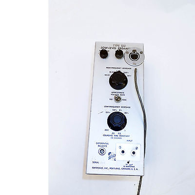 Tektronix Type 122 Low Level Preamp Module.an Early Tube Version