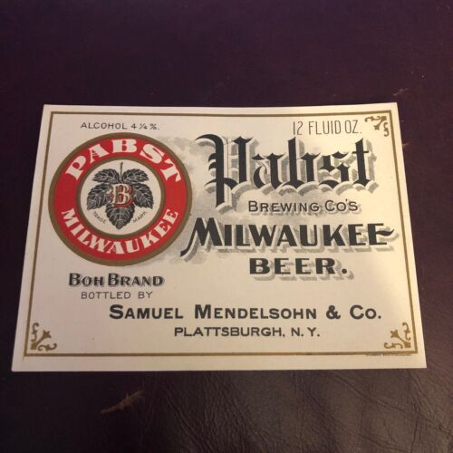 Vintage Pabst Brewing Co